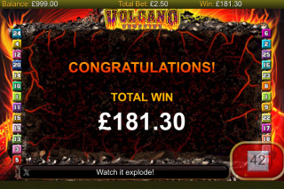 Volcano Eruption Mobile Slot Free Spins Win
