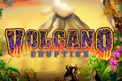 Volcano Eruption Mobile Slot Logo