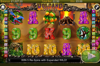 Volcano Eruption Mobile Slot Screenshot