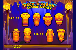 Big Kahuna Mobile Slot Mask Click Me Bonus