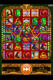 Da Vinci Diamonds Dual Play Free Spins Paylines