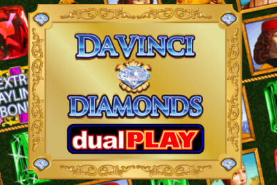 Da Vinci Diamonds Dual Play Slot Logo