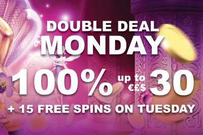 Double Deal Monday: 100% Bonus Every Week + 15 Free Games