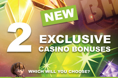 Choose from 2 Exclusive Mobile Casino Bonuses