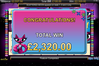 Miss Kitty Mobile Slot Big Win