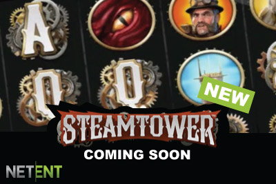 New NetEnt Steamtower Slot Coming in Feb 2015