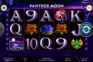 Panther Moon Mobile Slot Screenshot
