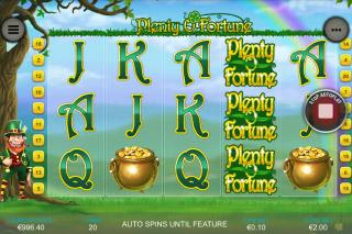 Plenty O Fortune Mobile Slot Screenshot
