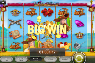 The Three Musketeers Mobile Slot Big Win
