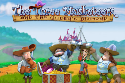 The Three Musketeers Mobile Slot Logo