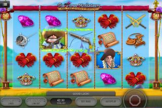 The Three Musketeers Mobile Slot Screenshot