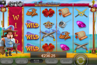 The Three Musketeers Mobile Slot Wilds