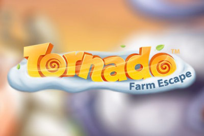 Tornado Farm Escape Mobile Slot Logo