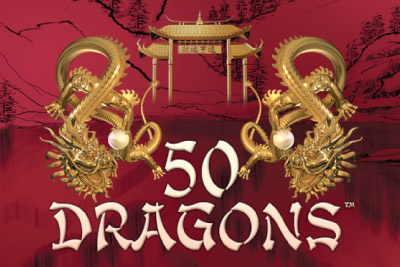 50 Dragons Mobile Slot Logo