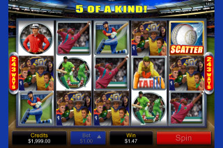 Cricket Star Mobile Slot Screenshot