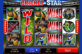 Cricket Star Slot Wilds