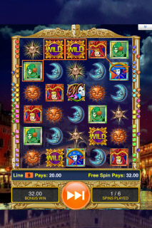 Masques of San Marco Mobile Slot Free Spins