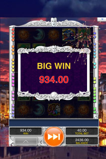 Masques of San Marco Mobile Slot Big Win