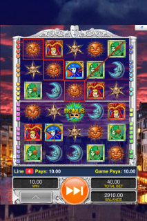 Masques of San Marco Mobile Slot Screenshot