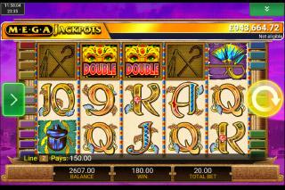 MegaJackpots Cleopatra Mobile Slot Scatters