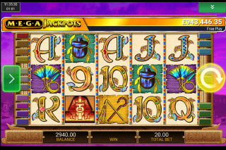 MegaJackpots Cleopatra Mobile Slot Screenshot