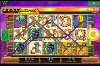 MegaJackpots Cleopatra Mobile Slot Win