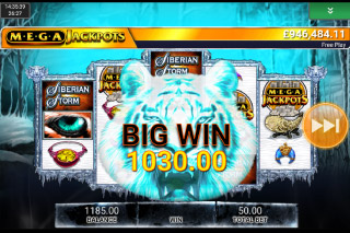 MegaJackpots Siberian Storm Mobile Slot Big Win