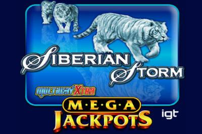 MegaJackpots Siberian Storm Mobile Slot Logo