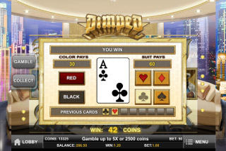 Pimped Mobile Slot Gamble Feature