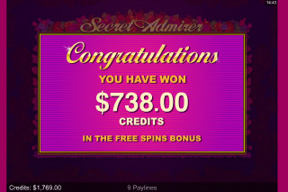 Secret Admirer Mobile Slot Free Spins Bonus Win