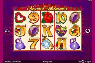 Secret Admirer Mobile Slot Screenshot