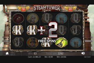 Steam Tower Free Spins