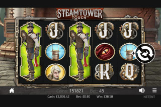 Steam Tower Slot Expanding Wilds