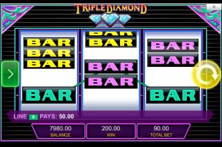 Triple Diamond Mobile Slot Bars