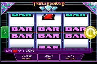 Triple Diamond Mobile Slot Reels
