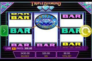 Triple Diamond Mobile Slot Win