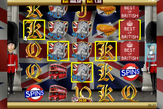 Best of British Mobile Slot Screenshot
