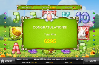 Easter Eggs Mobile Slot Free Spins Win