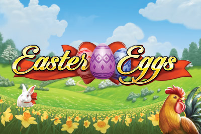 Easter Eggs Mobile Slot Logo