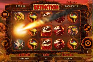 Extinction Mobile Slot Bonus Game