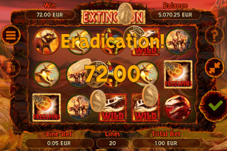Extinction Mobile Slot Bonus Win