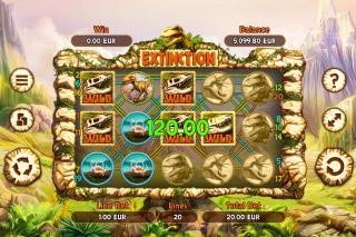 Extinction Mobile Slot Screenshot