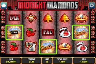 Midnight Diamonds Mobile Slot Bonus Symbols
