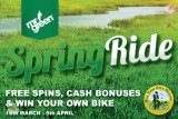 Grab Yourself Some Free Spins, Bonuses and Ride into Spring on a Bike