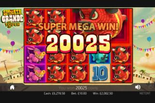 Spinata Grande Slot Super Mega Win