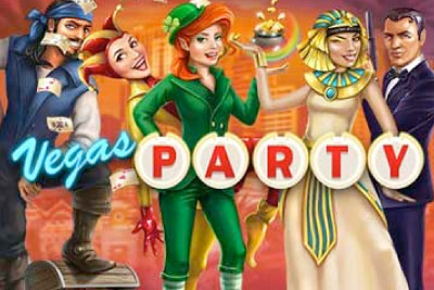 Vegas Party Mobile Slot Logo