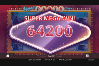 Vegas Party Mobile Slot Super Mega Win