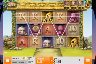 Big Bad Wolf Mobile Slot Reels