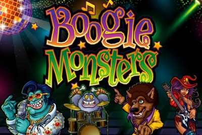 Boogie Monsters Mobile Slot Logo