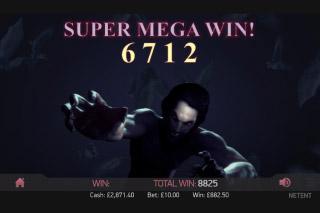 Dracula Touch Mobile Slot Super Mega Win